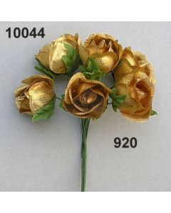 Rose mittel brokat / gold / 10044.920
