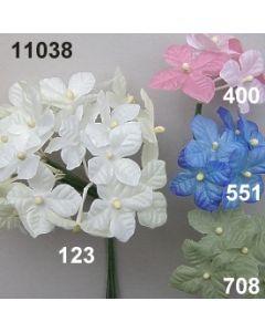 Hortensie mit 5 Blüten / 11038