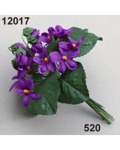Veilchenbusch mit Knospen und Blätter / violett / 12017.520