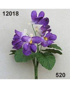 Veilchen mit Blatt / violett / 12018.520