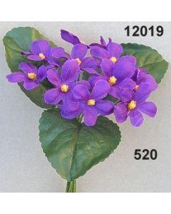 Veilchenbund mit 3 Blatt / violett / 12019.520