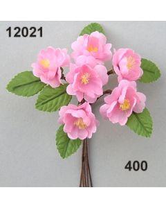 Kirschblüte mit Blatt / rosa / 12021.400