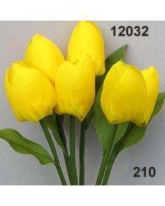 Tulpe mit Blatt / goldgelb / 12032.210
