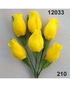 Tulpe klein mit Blatt / goldgelb / 12033.210