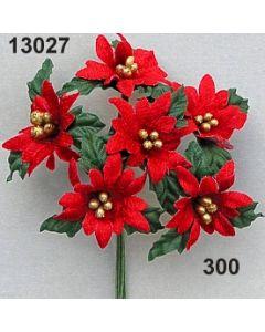 Weihnachtsstern samt / rot / 13027.300