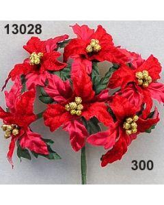 Weihnachtsstern samt groß / rot / 13028.300