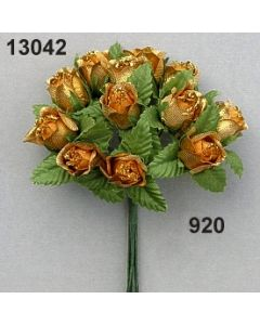 Farm-Rose brokat glimmer / gold / 13042.920