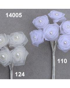 Dior-Rose Organdy mit Perle / 14005