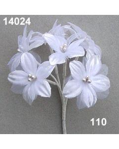 Satin-Organdyblüte / weiß / 14024.110