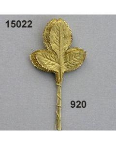 Rosenlaub x3 mittel / gold / 15022.920