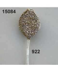 Glimmer-Rosenlaub groß / hellgold / 15084.922