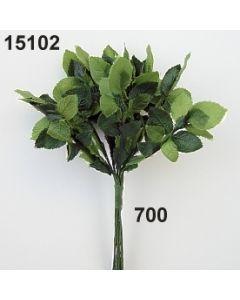 Seidenrosenlaub mini x10 / grün / 15102.700