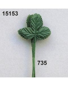 Erdbeerlaub x3 klein / dunkelgrün / 15153.735