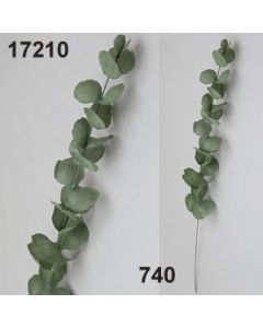 Seiden-Eucalyptus Stiel / grün-weiß / 17210.740