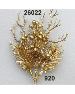 Tannenzweig x2 m.Beeren / gold / 26022.920