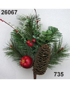 Kiefernpick m.Apfel+Zap / dunkelgrün / 26067.735