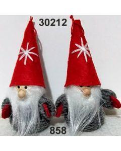 Woll-wichtel / grau-rot / 30212.858