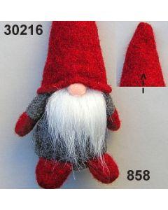 Filz-Wichtel groß / grau-rot / 30216.858