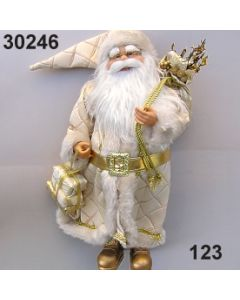 Weihnachtsmann stehend mit Steppmantel / creme / 30246.123