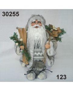 Weihnachtsmann stehend mit Ski kl / creme / 30255.123