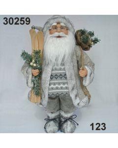 Weihnachtsmann stehend Ski / creme / 30259.123