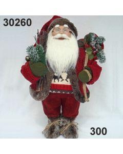 Weihnachtsmann stehend Sack / rot / 30260.300