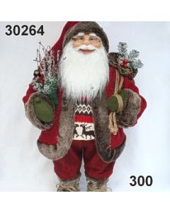 Weihnachtsmann stehend Sack groß / rot / 30264.300