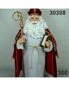 Nikolaus stehend / ca 60cm / rot / 30308.300