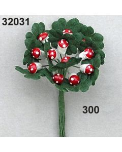 Fliegenpilz m.Kleelaub / rot / 32031.300