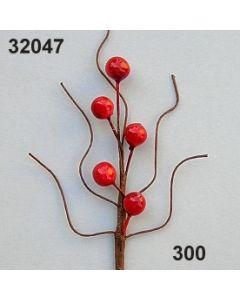 Beerenzweig klein / rot / 32047.300