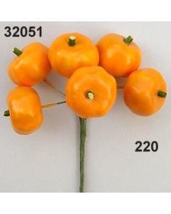 Kürbis am Draht 25mm / orange / 32051.220