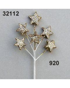 Glimmer-Stern Zweig x6 / gold / 32112.920