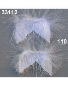 Federflügel klein am Draht / weiß / 33112.110