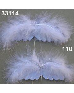 Federflügel am Draht / weiß / 33114.110