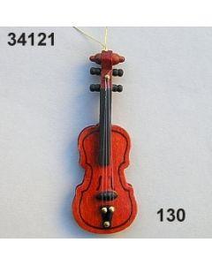 Holz Geige mittel / natur / 34121.130