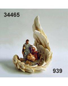 Heilige Familie im Flügel klein / bunt / 34465.939