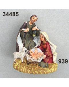 Heilige Familie mit Schaf mittel / bunt / 34485.939