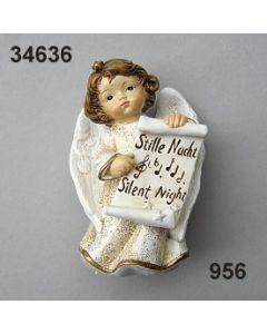 Stille Nacht Engel mittel / gold-creme / 34636.956