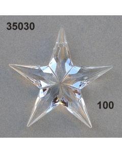 Acryl-Stern mittel / glasklar / 35030.100