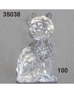 Acryl-Katze groß / glasklar / 35038.100