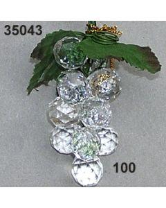 Acryl-Weintraube x12 / glasklar / 35043.100