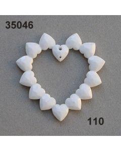Acryl Herzen in Herzform / weiß / 35046.110