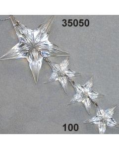Acryl-Sternengehänge x4 / glasklar / 35050.100