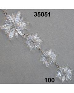 Acryl-Schneeflocken-Gehänge x4 / glasklar / 35051.100