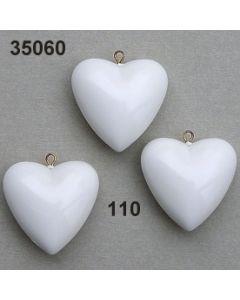 Acryl Herz 3 cm / weiß / 35060.110