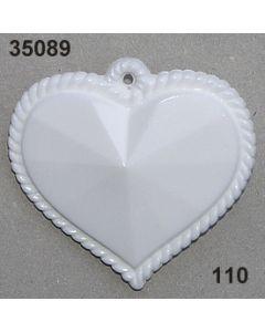 Acryl Trachten-Herz / weiß / 35089.110