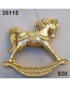 Goldglimmer Schaukelpferd / gold / 35115.920