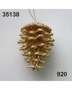 Goldglimmer Ornament Zapfen / gold / 35138.920