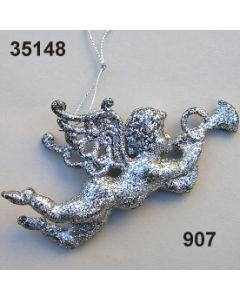 Silberglitter Engel / altsilber / 35148.907
