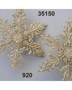 Goldglimmer Schneeflocke / gold / 35150.920